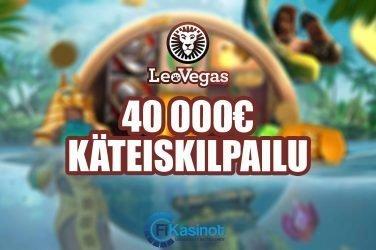 40 000 euroa käteistä LeoVegasilla