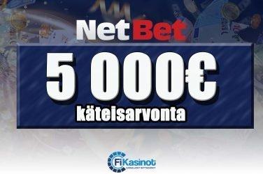 5 000 euron käteisarvonta NetBetillä