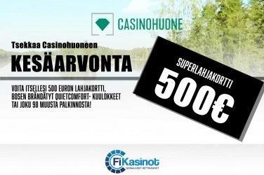 500 euron superlahjakortti Casinohuoneelta