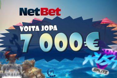 70 000 euroa käteistä NetBetillä