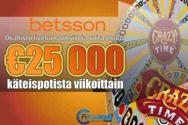 Betssonin 25 000 euron viikkoturnaukset