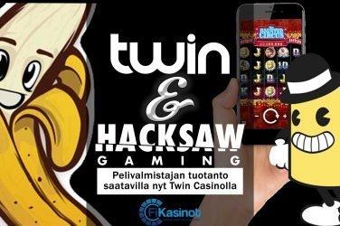 Hacksaw Gamingin pelit Twin Casinolla