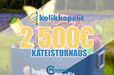 Kolikkopelien 2 500 euron käteisturnaus