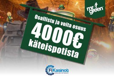 Mr Greenin 4 000 euron käteisryöstö