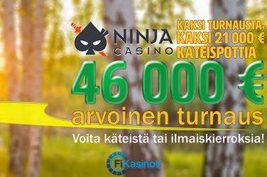Ninja Casinon 21 000 euron turnaukset