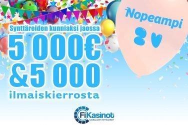 Nopeamman 5 000 euron synttäriturnaus