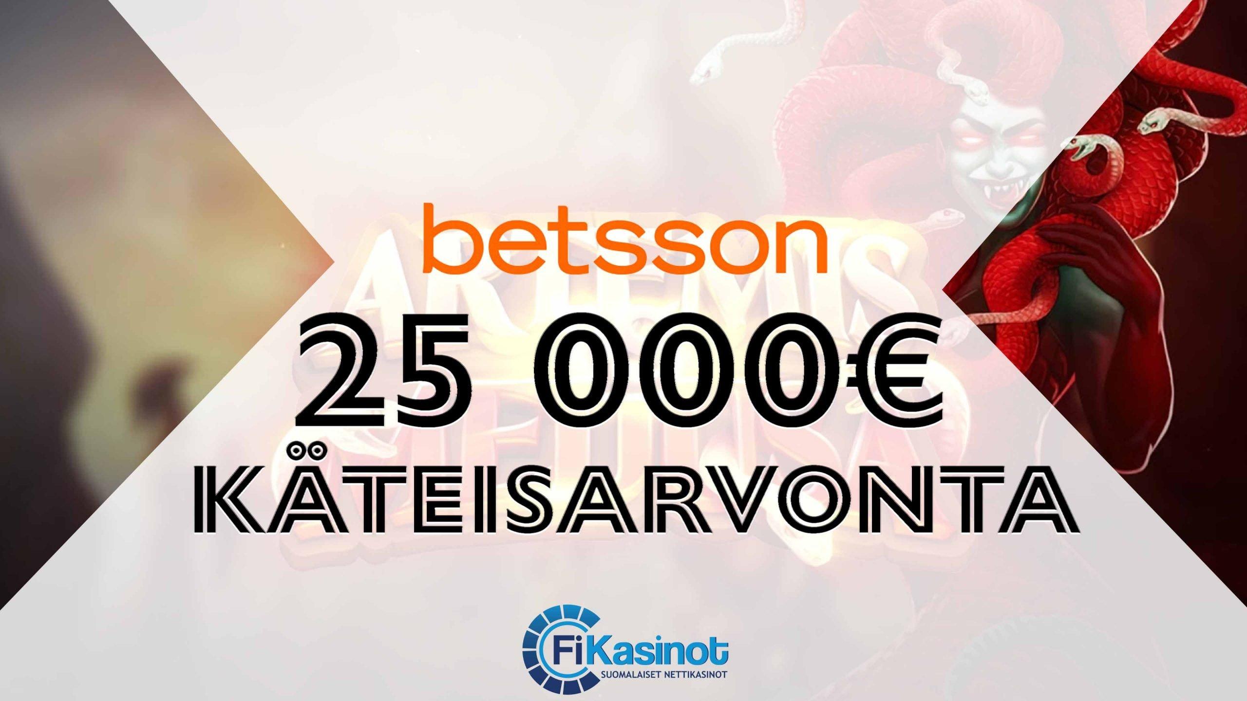 25 000 euron käteisarvonta Betssonilla