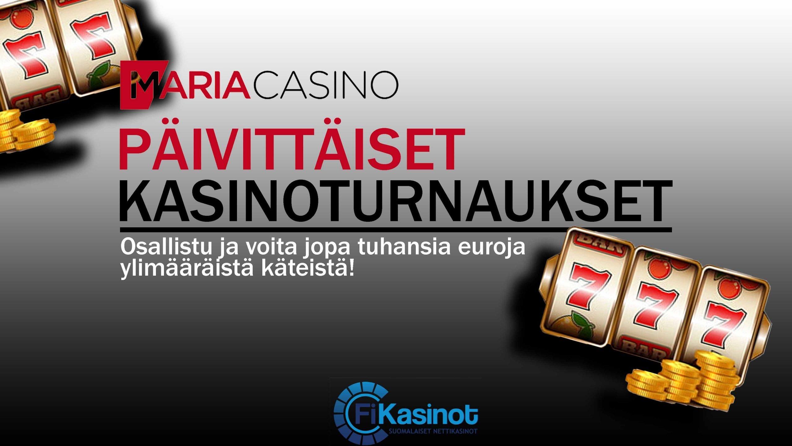 Maria Casinolta päivittäin käteispalkintoja