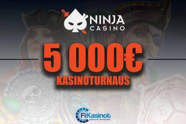 5 000 euroa käteistä Ninja Casinolla