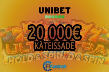 20 000 euron käteissade Unibetillä