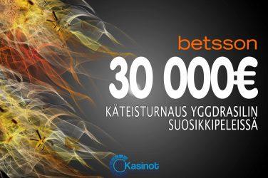 30 000 euroa käteistä Betssonilla