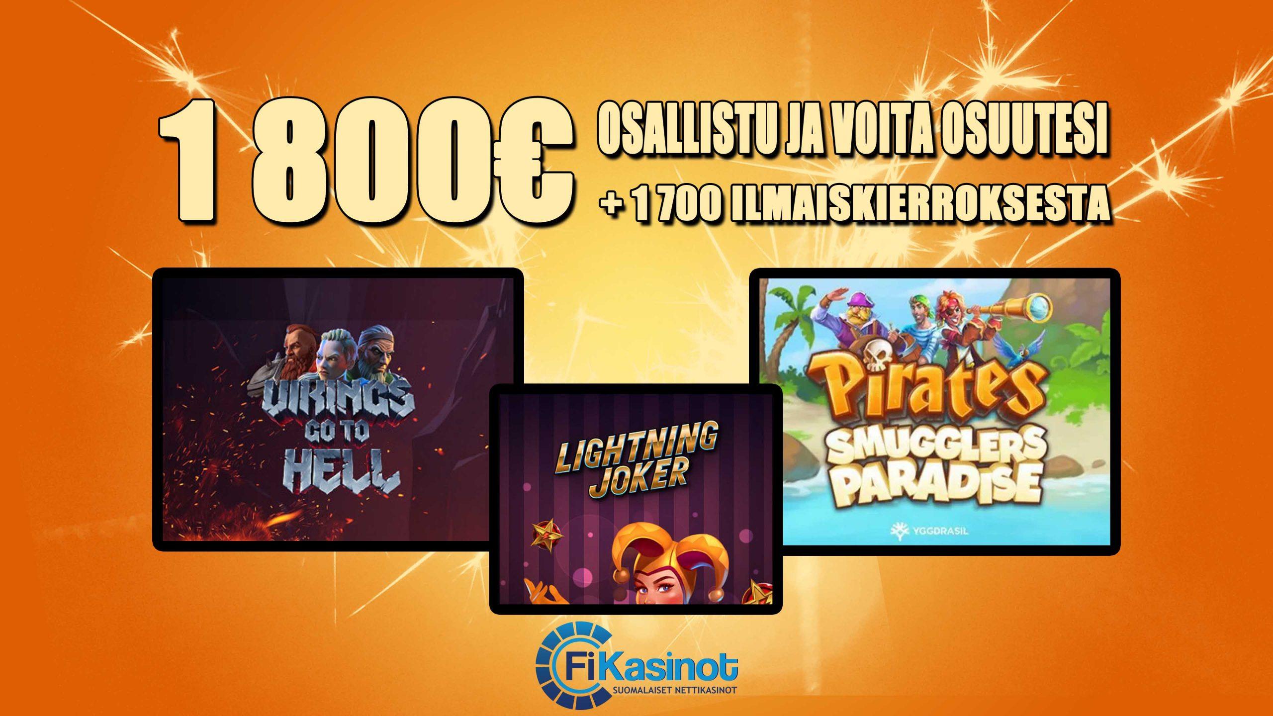 Ninja Casinon 1 800 euron slottihaaste