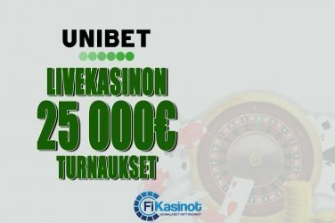 Unibetin 25 000 euron turnaukset