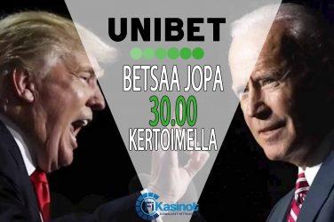 Megakertoimet USAn vaaleihin Unibetillä